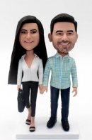 Custom Bobbleheads for Couple Dress In Casual
