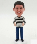 Custom bobbleheads with thumb up