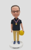 Personalized bobble head- water polo coach