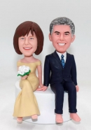 Personalized custom wedding cake toppers Bobblehead