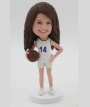 Custom playing basketball bobbleheads