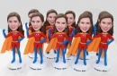 7 Custom bobbleheads Same face same body