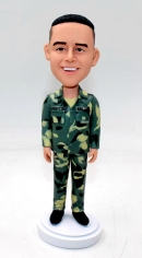 Custom Military bobblehead- dress in camouflage