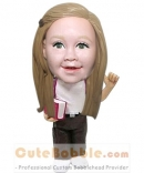 Custom bobblehead gifts for schoolgirl