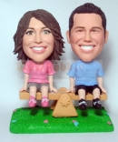Couple Sitting On a Bench Bobblehead