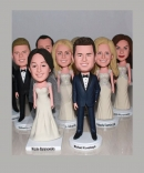 Custom groomsmen bobbleheads wedding gifts for bridesmaid