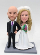 Wedding bobbleheads for couple