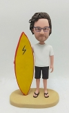 Custom bobble head-Man with surfing board