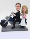 Harley Davidson wedding bobbleheads