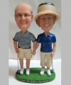 50th Wedding Anniversary bobbleheads - Golf