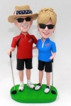 Custom couple bobblehead golf
