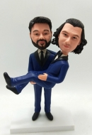 Personalized Custom cake topper-Two grooms