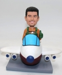 Custom Bobblehead Airplane Pilot