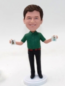 Custom bobblehead doll-holding album