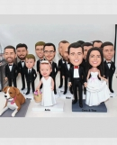 Custom wedding Bobbleheads-14 persons