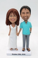 Custom Couple bobblehead-Casual Style