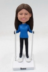 Skiing custom bobbleheads doll