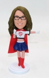 Personalized bobbleheads- superwoman