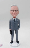 Businessman custom bobble head