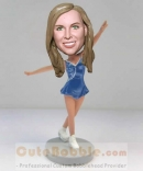 Figure skater personalised bobble heads