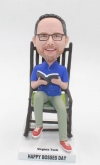 Custom bobblehead- reading a book