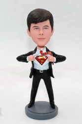 Custom bobblehead doll-Superman transform