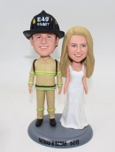 Wedding bobbleheads- Groom Firefighter