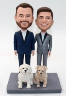 Two Grooms Wedding Bobbleheads