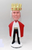 Customized King bobblehead with King Crown