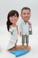 Wedding in the beach -cake toppers