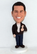 Thumbs-up custom bobbleheads