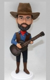 Custom Cowboy bobblehead with Guitar