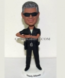 custom bobblehead Police officer with gun