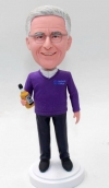 Customized bobblehead for father with whisky