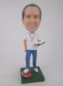 Custom bobblehead football coach