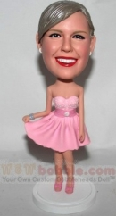 Pink Dress Sweet 16 Bobbleheads