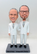 Gay wedding custom bobblehead