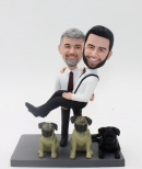 Custom bobbleheads-gay wedding cake toppers