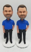 Custom businessman bobblehead with briefcase