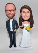 Custom wedding cake topper bobbleheads