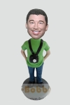 Custom bobblehead with camera