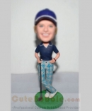 Playing golf custom bobblehead