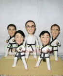 Taekwondo Team bobbleheads for 5