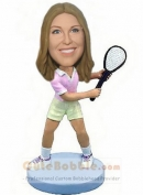 Playing Tennis Bobbleheads