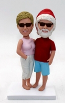 Anniversary gift for Old Couple Bobbleheads