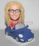 Lady Sitting in car bobbleheads