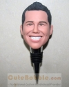 His face custom metal wine bottle stopper
