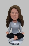 Yoga custom bobblehead