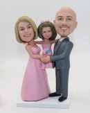 Wedding bobbleheads Cake topper with child