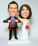 Superman bobbleheads cake toppers
